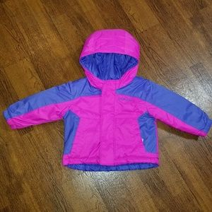 COLUMBIA REVERSIBLE JACKET GIRLS 6-12 MONTHS